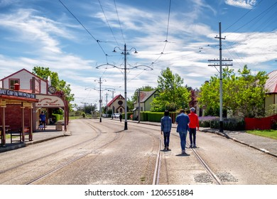 NEW ZEALAND, CHRISTCHURCH, FERRYMEAD HERITAGE PARK - NOVEMBER 2015: Ferrymead Park was built and features the old Edwardian style town in 1900s, interesting and attractive place to have a walk.