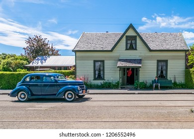 NEW ZEALAND, CHRISTCHURCH, FERRYMEAD HERITAGE PARK - NOVEMBER 2015: Ferrymead Park was built and features the old Edwardian style town in 1900s, interesting and attractive place to have a walk and see