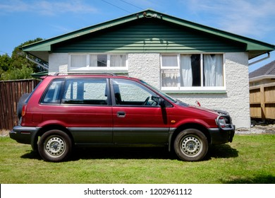 NEW ZEALAND, CHRISTCHURCH - OCTOBER 2015: A 1995 Mitsubishi RVR in Christchurch, New Zealand. 1st Gen Mitsubishi RVR is a range of cars produced by Japanese manufacturer Mitsubishi from 1991 to 2002.