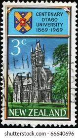 NEW ZEALAND - CIRCA 1969: A stamp in New Zealand shows Otago University, circa 1969