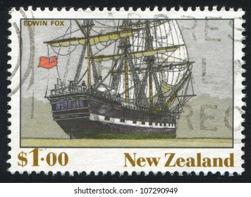 NEW ZEALAND - CIRCA 1990: A stamp printed by New Zealand, shows The Ship, Edwin Fox, circa 1990