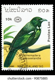 NEW ZEALAND - CIRCA 1990: A stamp printed in New Zealand shows bird kakapo, circa 1990