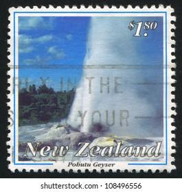 NEW ZEALAND - CIRCA 1993: stamp printed by New Zealand, shows Pohutu geyser, circa 1993