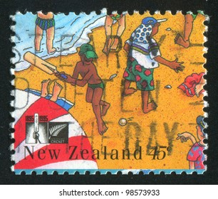 NEW ZEALAND - CIRCA 1995: stamp printed by New Zealand, shows Boy with Beach Ball, circa 1995