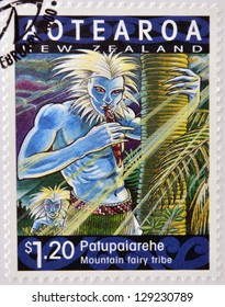 NEW ZEALAND - CIRCA 2000: A stamp printed in New Zealand shows Patupaiarehe, mountain talry tribe, circa  2000