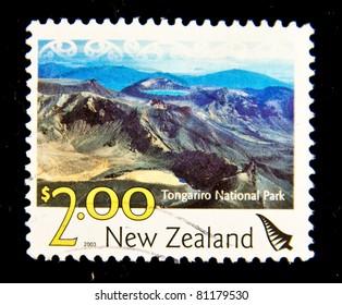 NEW ZEALAND - CIRCA 2003: A stamp printed in New Zealand shows image of Tongariro National Park, series, circa 2003
