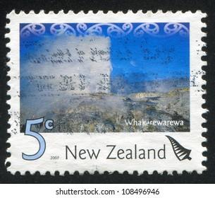 NEW ZEALAND - CIRCA 2007: stamp printed by New Zealand, shows Geothermal Area of Whakarewarewa, circa 2007