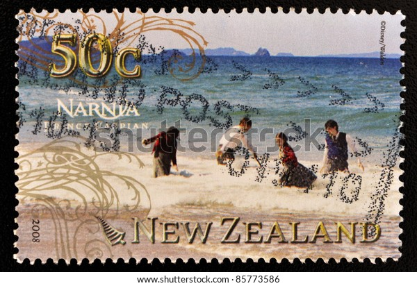 NEW ZEALAND - CIRCA 2008: A stamp printed in New Zealand shows image of the Chronicles of Narnia movie, Prince Caspian, circa 2008