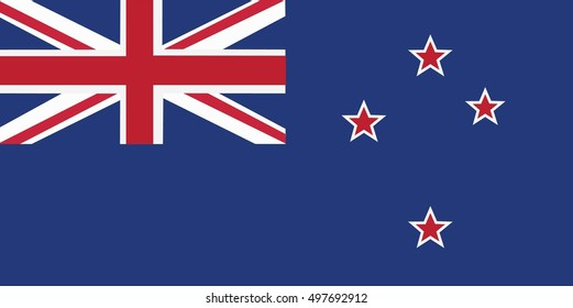 New Zealand flag, three dimensional render, satin texture