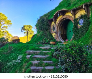 New Zealand - Hobbiton in Matamata New Zealand - Movie Set of Peter Jackson's The Hobbit and Lord of the Rings