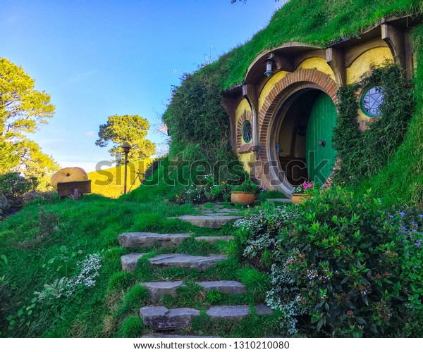 Nouvelle-Zélande - Hobbiton à Matamata Nouvelle-Zélande - Ensemble de films de Peter Jackson's The Hobbit et Lord of the Rings