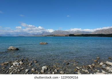 New Zealand Landscape at Lake Tekapo