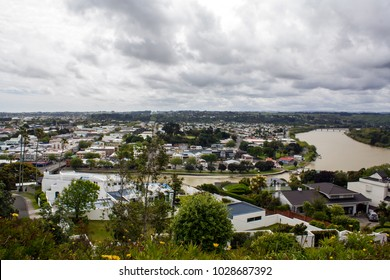 New Zealand landscape, Whanganui aerial view