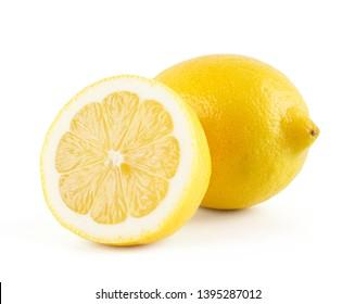 New Zealand lemon isolated on white background.