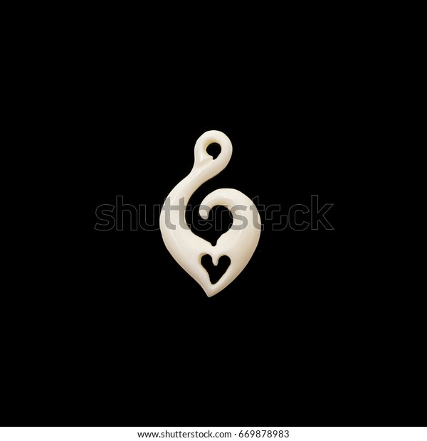 New Zealand Maori Handmade Carved Ox Abstract Stock Image 669878983