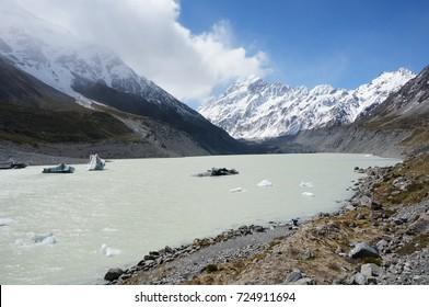 New Zealand mount cook glacier