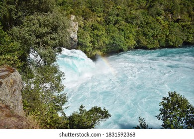 New Zealand, normally 100m wide Waikato River continues like a  narrow 15m wide gorge. This place is the phenomenon of natural hydro power - more than 220, 000 litres of water per second.