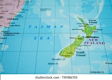New Zealand On The Map.Simple New Zealand Map Stock Photos Images Photography Shutterstock