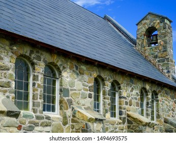 New Zealand, South Island. Situated on the shores of Lake Tekapo is the Church of the Good Shepherd, which, in 1935, was the first church built in the Mackenzie Basi