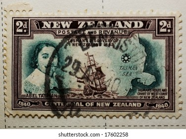 New Zealand stamp commemorating discovery of New Zealand