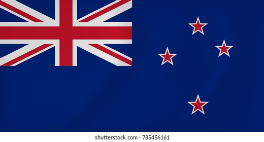 New Zealand waving flag