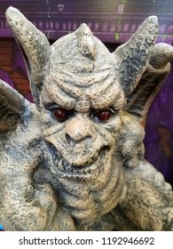 Newark, Delaware, U.S.A - September 29, 2018 - Scary monster statue for Halloween decoration at Lowe's