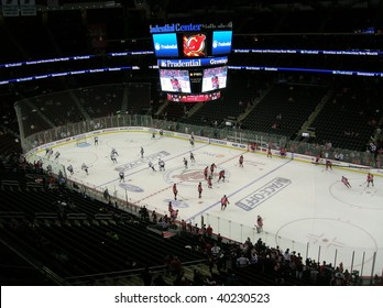 NEWARK, NEW JERSEY - FEBRUARY 28: A National Hockey League game was played at the Prudential Center between the New Jersey Devils and Buffalo Sabres on October 28, 2009 in Newark, New Jersey.