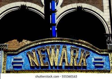 Newark, New Jersey - July 4, 2009:  Marquee of the former Paramount NEWARK movie theatre on Market Street