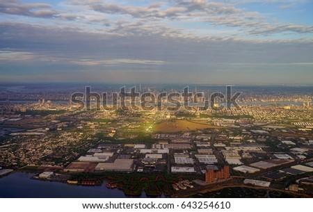 NEWARK NJ 16 MAY 2017 Aerial Stock Photo (Edit Now