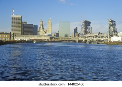Newark, NJ skyline from the river