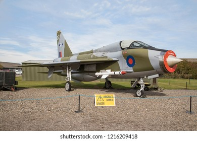 Newark, Nottinghamshire, UK - October 7th 2018 - Aeroplane on display at the Newark Air Museum.