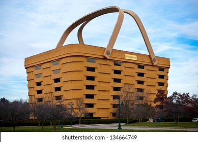 NEWARK, OHIO - NOVEMBER 19: The unique basket shaped Longaberger Company home office building November 19, 2012. Most known for their custom, handmade baskets that resemble the building.