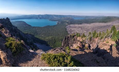 Newberry Caldera area from Paulina Peak