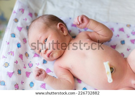 Newborn baby, 3 days old at home