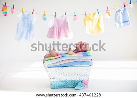 60ca3e046561 Newborn Baby On Pile Clean Dry Stock Photo (Edit Now) 437461228 ...