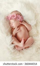 17f20ea6c Newborn baby peacefully sleeping. Little newborn baby few days, sleeps. baby  girl.