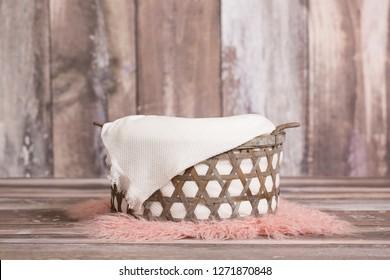 Newborn digital background basket