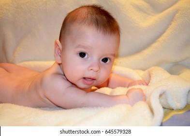 Newborn face closeup