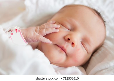 Newborn infant at the hospital