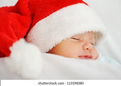 Newborn santa baby