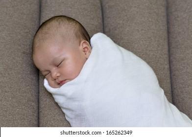 Newborn Sleep With Swaddle