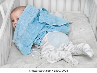 newborn and towel