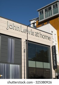 Newbury, Parkway Shopping Centre, Berkshire, England - October 10, 2015: John Lewis at home department store, founded by John Lewis in 1864 as a drapery shop on Oxford Road London