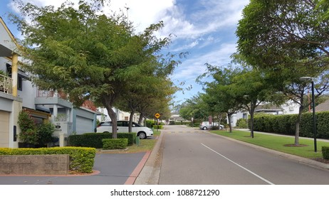 Newcastle, Australia - February 2018: Residential housing area in Newcastle, New South Wales.