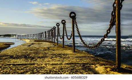 Newcastle beach at sunrise