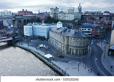 Newcastle cityscape Quayside with river and street view of north east procurement organisation