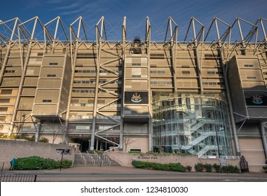 Newcastle, England. November 15. 2018. St Jame's Park football stadium. The home of Newcastle United football club.