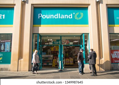 dac3a08a512b Newcastle / Great Britain - February 27, 2019: Exterior of Poundland value  shop showing