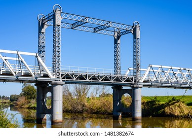 Newcastle, New South Wales, Australia- 18 August 2019: Hinton Bridge over Paterson River.