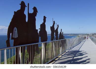 Newcastle, NSW, Australia - November 7th 2015. The ANZAC Memorial Walk with the names of Newcastle and district men and women who Australia and New Zealand during the Great war of 1914 - 1918.